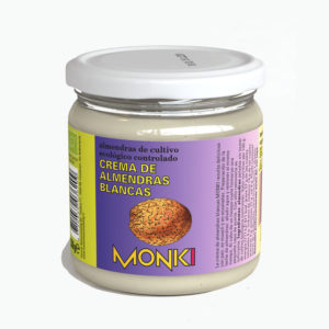 Crema de almendras blancas 330g Monki