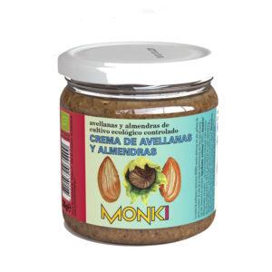Crema de avellanas y almendras Bio 330g Monki
