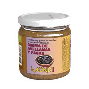 Crema de Avellanas y Pasas Bio 330g Monki