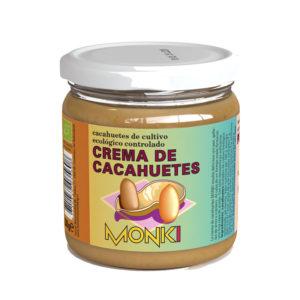 Crema de cacahuetes bio 330g Monki