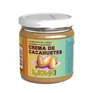 Crema de Cacahuetes Crujiente Bio 330g Monki