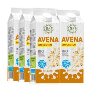 Bebida de avena calcio sin gluten bio 6x1 L Sol Natural