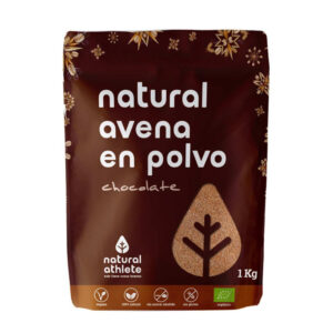 Avena natural en polvo con chocolate 1Kg Natural Athlete