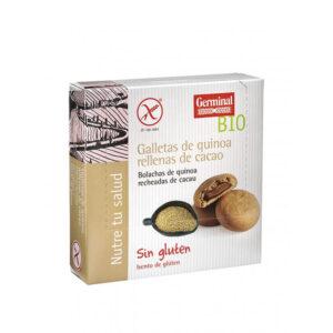 Galletas quinoa rellenas de cacao bio sin gluten 200 g Germinal