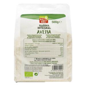 Harina integral de avena bio 500 g La Finestra