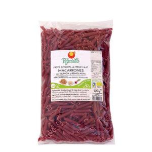 Macarrones con quinoa y remolacha bio 500 g Vegetalia