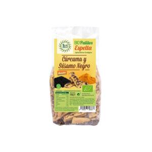 Palitos de Espelta con Curcuma y Sesamo Negro bio 150 g Sol Natural