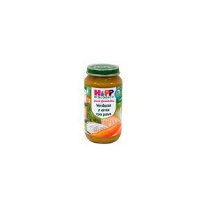 Potito de verduras y arroz con pavo +12 M 250 g Hipp