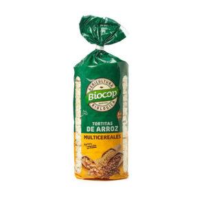Tortitas de arroz multicereales bio 200 g Biocop