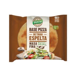 Base de pizza de Espelta Masa Fina 3 bases Bio 390g Biocop