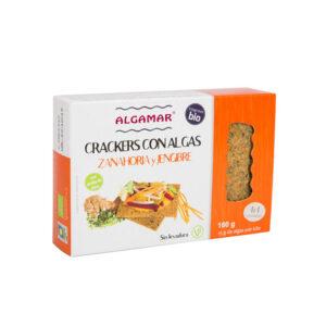 Crackers integrales con algas