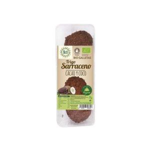 Galletas de t.sarraceno coco-cacao bio 175 g Sol Natural