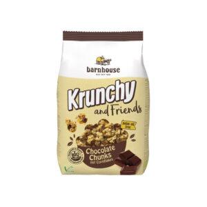 Muesli Krunchy&Friends chocolate y copos de maiz 500g Barnhouse