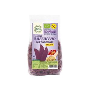 Penne de trigo sarraceno, remolacha y lino sin gluten 250g Sol Natural