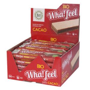 Whafeel Snack espelta y cacao bio 20x30 g Sol Natural