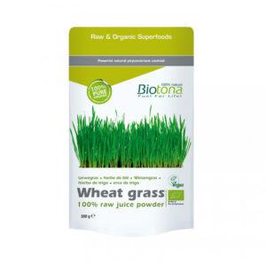 Wheat grass (hierba de trigo) raw superfood bio 200 g Biotona