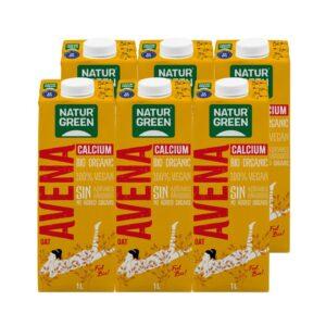 Bebida de avena con calcio sin azucar bio 6x1L Naturgreen