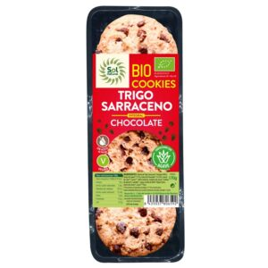 Cookies trigo sarraceno integral con chocolate bio 170g Sol Natural