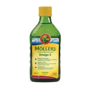 Aceite de hígado de bacalao sabor limon+vitaminas 250ml Mollers
