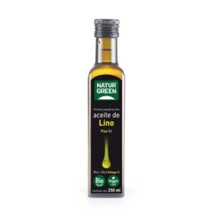 Aceite de lino bio 250ml Naturgreen