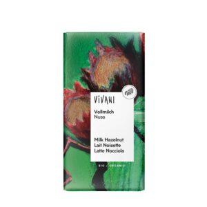 Chocolate con leche y avellanas bio 100g Vivani