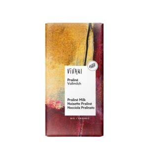 Chocolate con Praliné (almendra garrapiñada) bio 100g Vivani