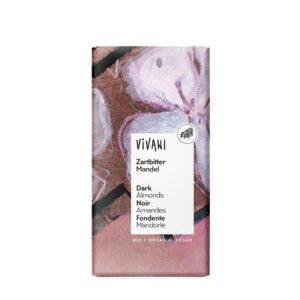 Chocolate negro 55% con almendras bio 100g Vivani