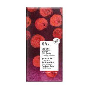 Chocolate negro 70% con Arandano Rojo bio 100g Vivani