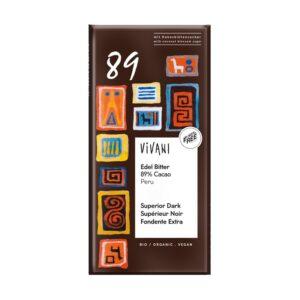 Chocolate negro 89% bio 80g Vivani