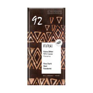 Chocolate negro 92% bio 80g Vivani