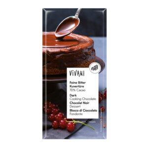 Chocolate negro de cobertura 70% bio 200g Vivani