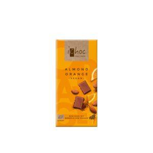 Chocolate vegano naranja almendra Bio 80g Ichoc