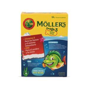 Gominolas Omega 3+Vit D 45ud Mollers