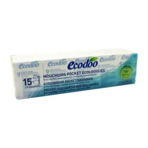 Pañuelos de bolsillo 100% reciclado 9x15uds Ecodoo