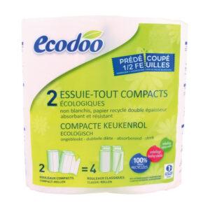 Papel cocina compacto 100% reciclado 2uds Ecodoo