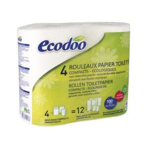 Papel higienico compacto 100% reciclado 4uds Ecodoo