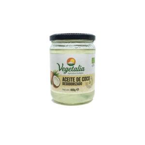 Aceite de Coco Desodorizado Bio 400g Vegetalia