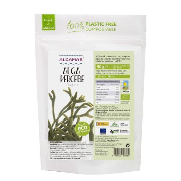 Alga Percebe (Codium) deshidratado Bio 50g Algamar