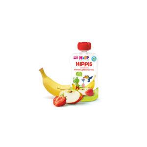 Bolsita de manzana, plátano y fresa bio 6x100g Hipp