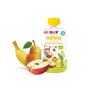 Bolsita de manzana y plátano y pera bio 6x100g Hipp
