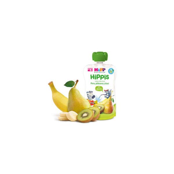 Bolsita de pera, plátano y kiwi bio 6x100g Hipp