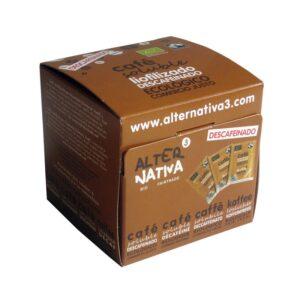 Cafe soluble descafeinado liofilizado bio 25x2g Alternativa3