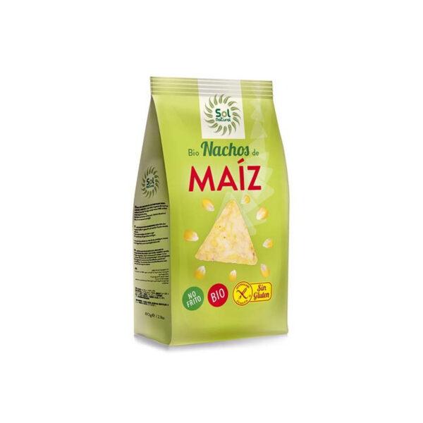Nachos de maiz no fritos bio 80g Sol Natural