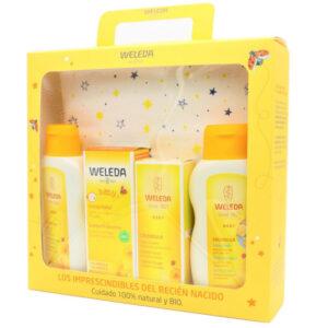 Set regalo Bienvenido bebé con neceser Weleda