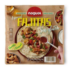Tortilla de maiz especial Fajita sin gluten 200g Nagual