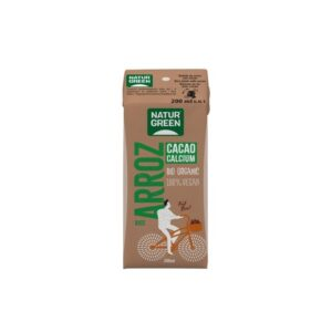 Bebida de arroz con cacao y calcio bio 200ml Naturgreen