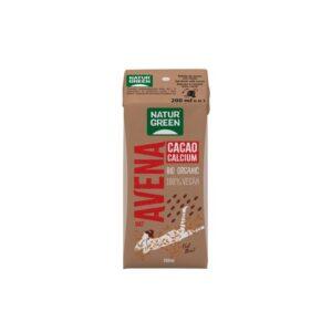 Bebida de avena con cacao y calcio bio 200ml Naturgreen