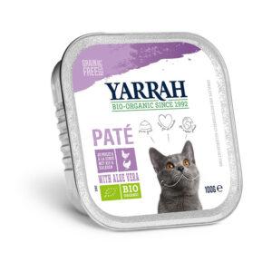 Pate para gatos con pollo y pavo tarrina bio 100g Yarrah