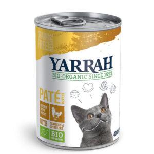 Pate para gatos de pollo y algas bio lata 400g Yarrah