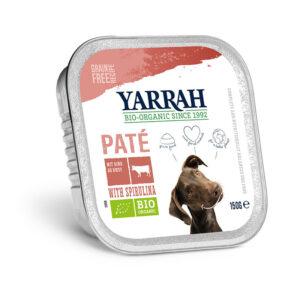 Pate para perros con ternera tarrina bio 150g Yarrah